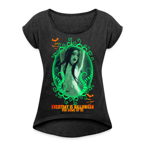 Halloween's Day - Women's T-Shirt with rolled up sleeves