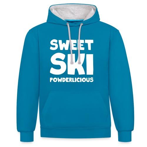 Sweet Ski Powderlicious Hoodie - Kontrast-Hoodie
