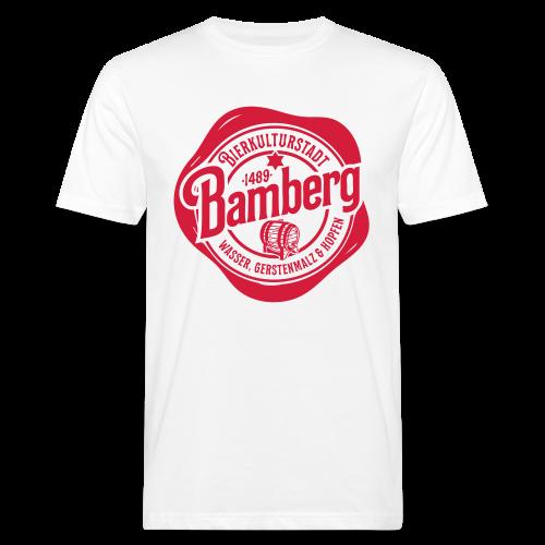 Bierkulturstadt Bamberg Siegel - #bierkulturstadt - Männer Bio-T-Shirt