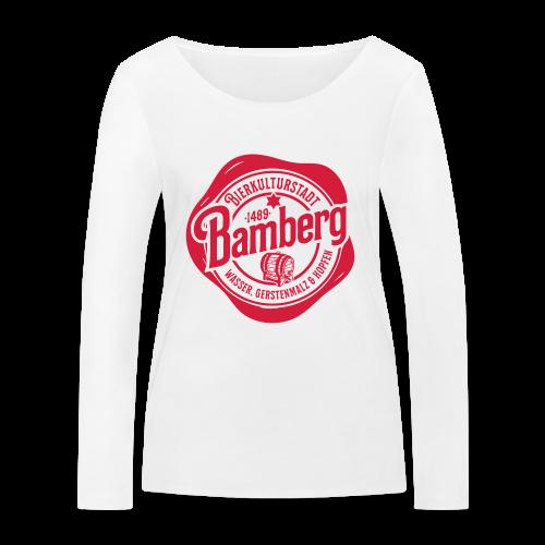 Bierkulturstadt Bamberg Siegel - #bierkulturstadt - Frauen Bio-Langarmshirt von Stanley & Stella