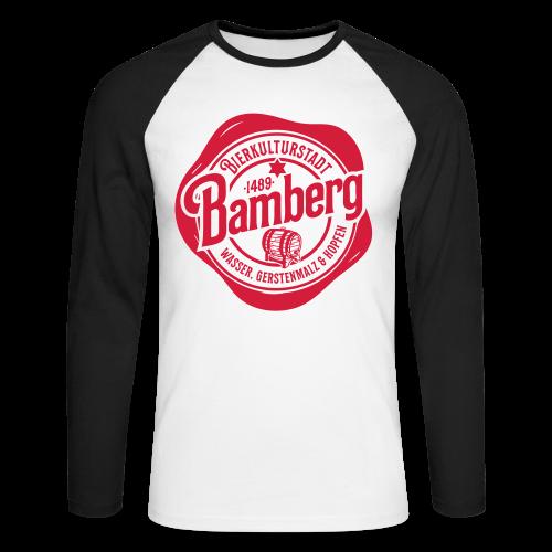 Bierkulturstadt Bamberg Siegel - #bierkulturstadt - Männer Baseballshirt langarm