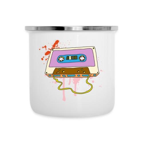 Musik Kassette Walkman Magnettonband Retro Vintage - Emaille-Tasse