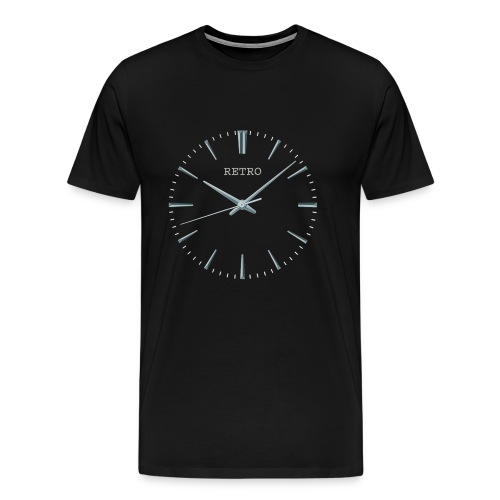 Retro watch large - Men's Premium T-Shirt