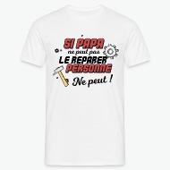 T-shirt Papa bricoleur blanc par Tshirt Family