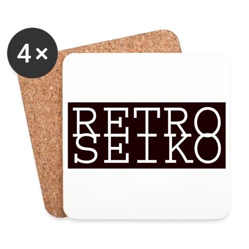 White Retroseiko coaster (set of 4) - Coasters (set of 4)