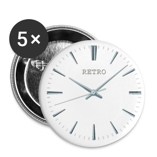 Retro watch badge (set of 5) - Buttons medium 32 mm