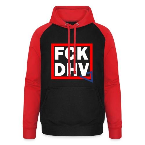 FCK DHV - Hoodie - Unisex Baseball Hoodie