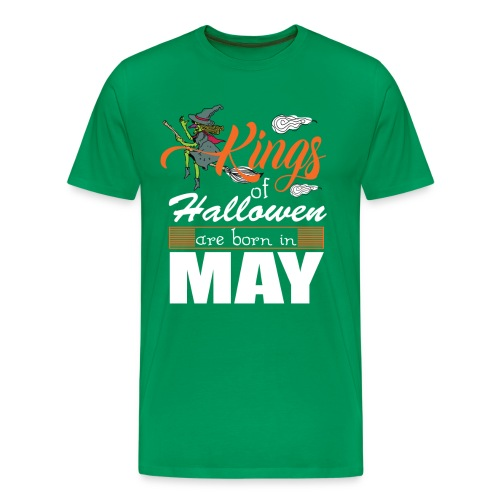 Halloween Kings Are Born In May - Men's Premium T-Shirt