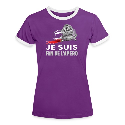 Je suis Fan de l'apéro - T-shirt contrasté Femme