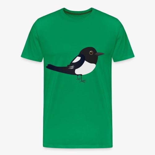 Schattige ekster T-shirt - Mannen Premium T-shirt