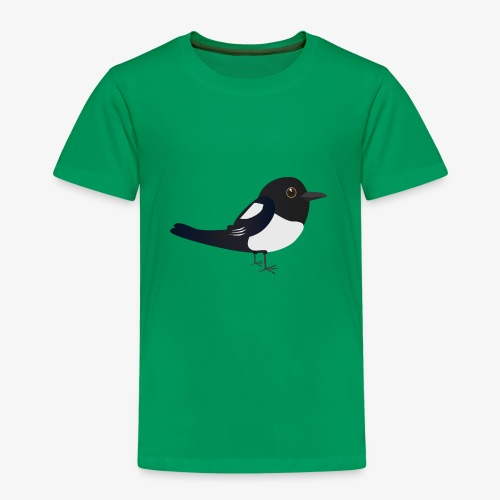 Schattige ekster kinder T-shirt - Kinderen Premium T-shirt
