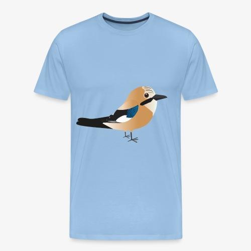 Schattige Vlaamse gaai T-shirt - Mannen Premium T-shirt