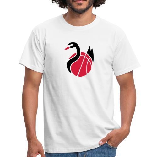 Herren T-Shirt, Flexdruck schwarz / rot - Männer T-Shirt