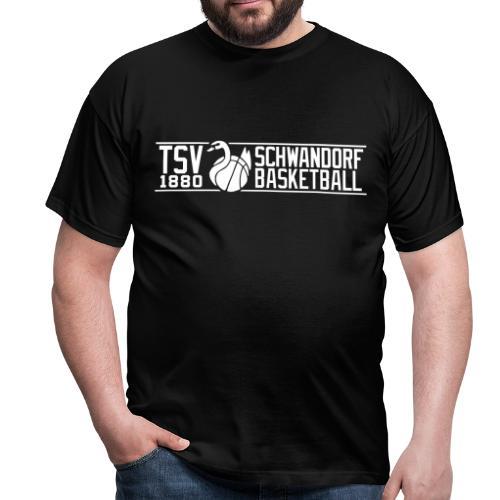Herren T-Shirt, Flexdruck weiß / weiß - Männer T-Shirt