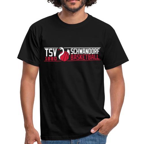 Herren T-Shirt, Flexdruck weiß / rot - Männer T-Shirt