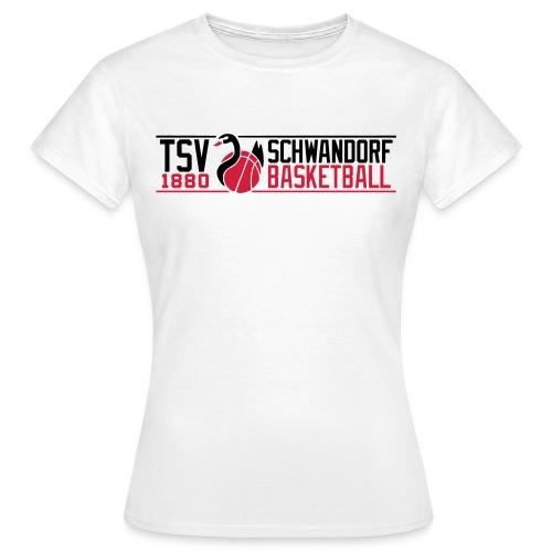 Frauen T-Shirt, Flexdruck schwarz / rot - Frauen T-Shirt