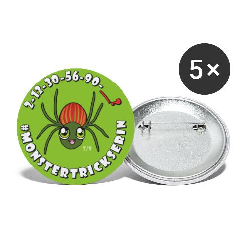 Monster-Button 7 - Buttons klein 25 mm (5er Pack)