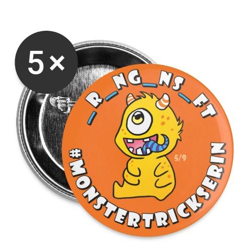 Monster-Button 5 - Buttons klein 25 mm