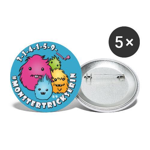 Monster-Button 8 - Buttons klein 25 mm (5er Pack)