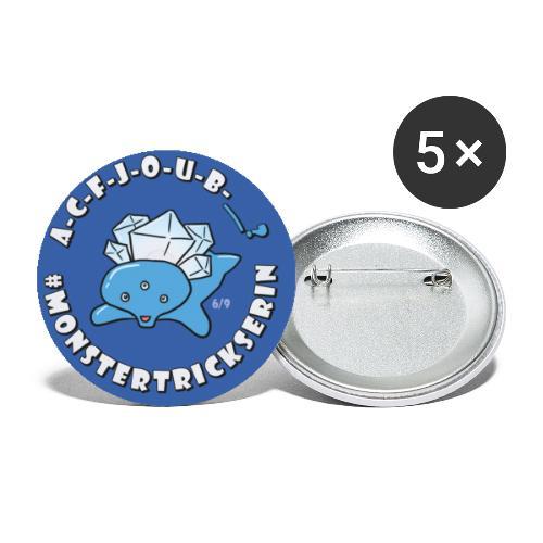 Monster-Button 6 - Buttons klein 25 mm (5er Pack)