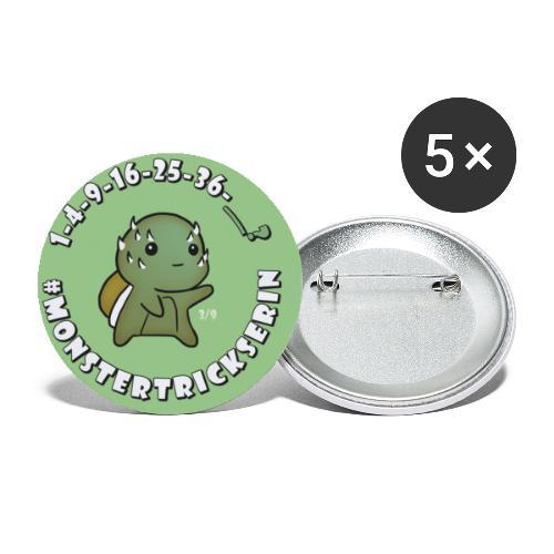 Monster-Button 3 - Buttons klein 25 mm (5er Pack)