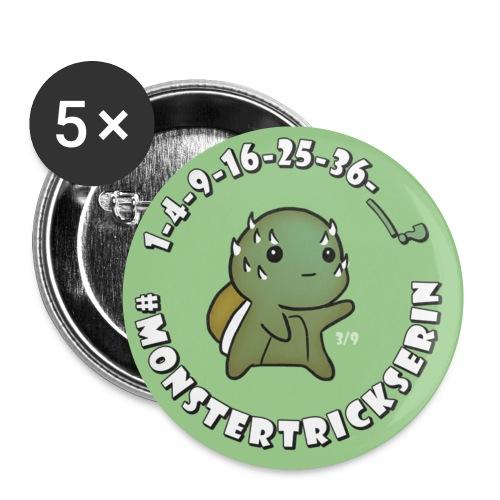 Monster-Button 3 - Buttons klein 25 mm
