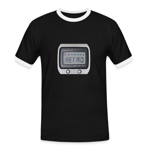 Retro seiko LCD watch t-shirt - Men's Ringer Shirt