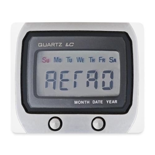 Retro seiko LCD watch mousemat - Mouse Pad (horizontal)
