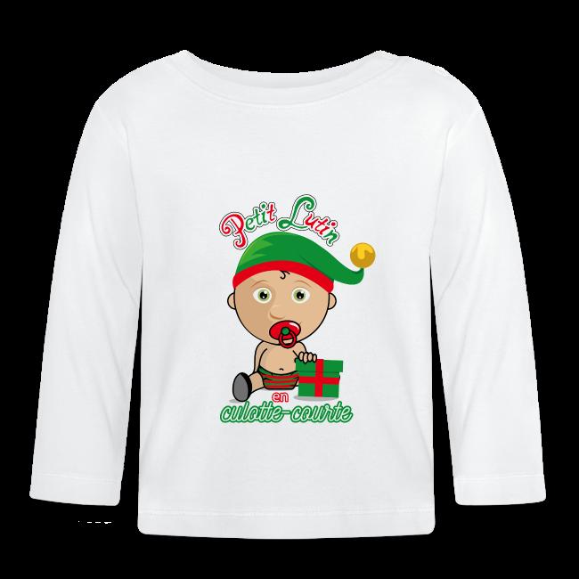 Tee shirt bébé lutin de Noël