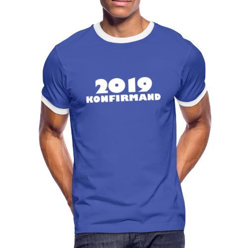 Konfirmand 2019 t-shirt. - Herre kontrast-T-shirt
