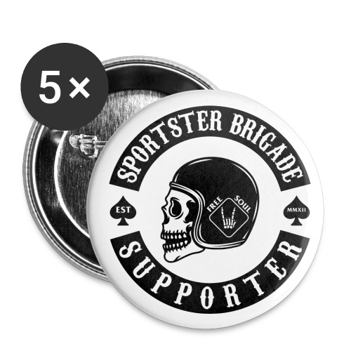 Sportster Brigade Pin - Buttons klein 25 mm (5er Pack)