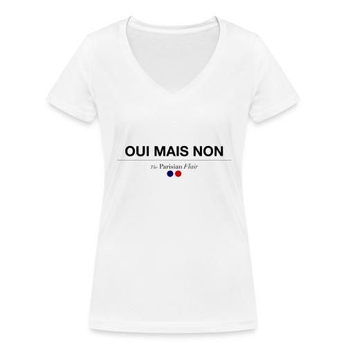 OUI MAIS NON femme  - T-shirt bio col V Stanley & Stella Femme