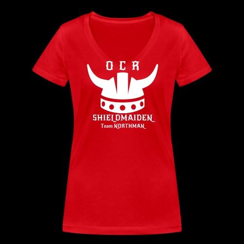 OCR Northman T-Shirt Shieldmaiden - Frauen Bio-T-Shirt mit V-Ausschnitt von Stanley & Stella
