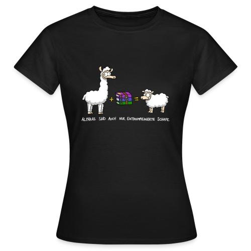 Komprimierte Schafe Frauen - Frauen T-Shirt