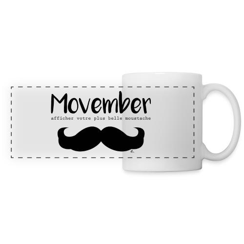 "Mug Moustache""  - Mug panoramique contrasté et blanc"