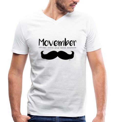"T-shirt Homme Moustache"" - T-shirt bio col V Stanley & Stella Homme"