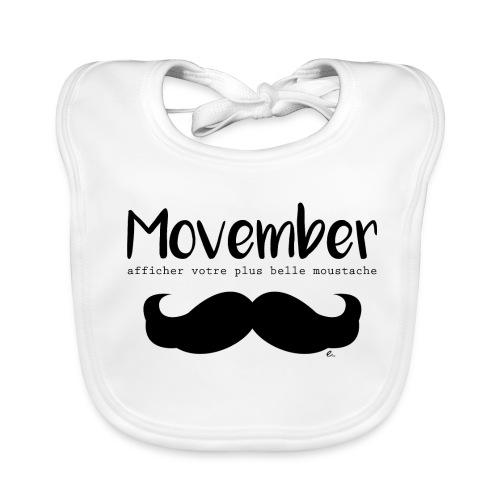 """Bavoir Moustache"""" - Bavoir bio Bébé"""