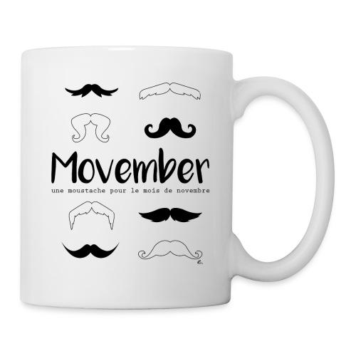"Mug Moustache pour le mois"" - Mug blanc"