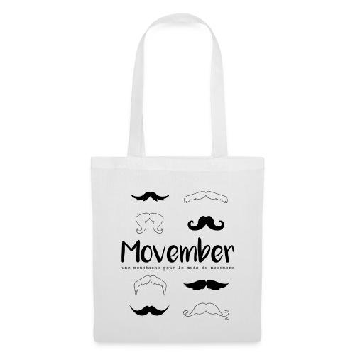 """Tote Bag Moustache pour le mois"""" - Tote Bag"""