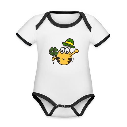 Glücksbringer - Baby Bio-Kurzarm-Kontrastbody