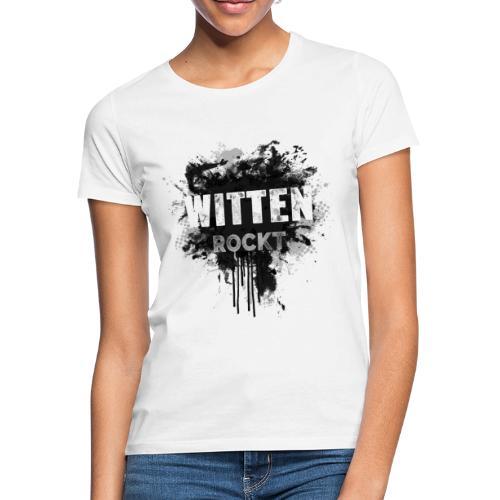 WITTEN ROCKT IN DIRTY BLACK - Frauen T-Shirt