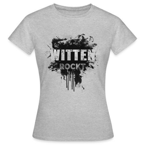 WITTEN ROCKT IN DIRTY BLACK - Frauen T-Shirt