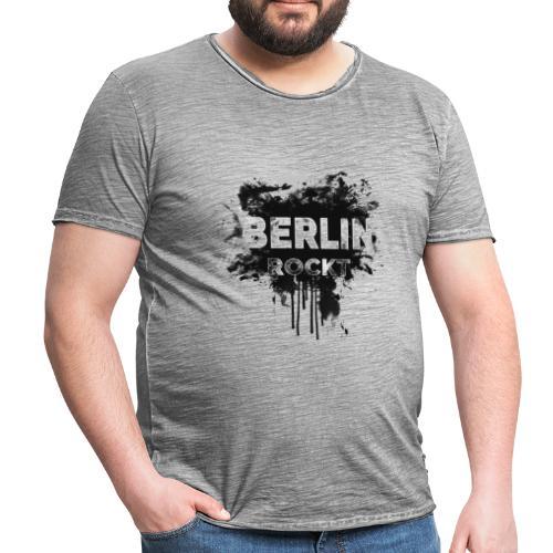 BERLIN ROCKT SPLÄTTER DESIGN - Männer Vintage T-Shirt