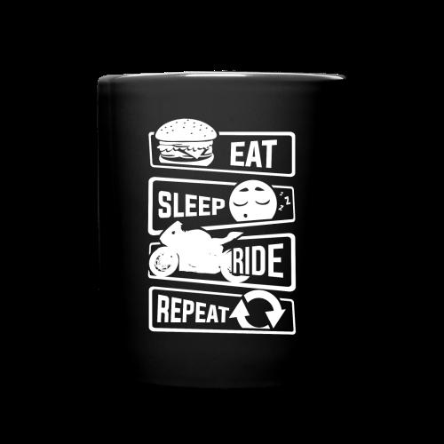Eat sleep ride repeat. - Full Colour Mug