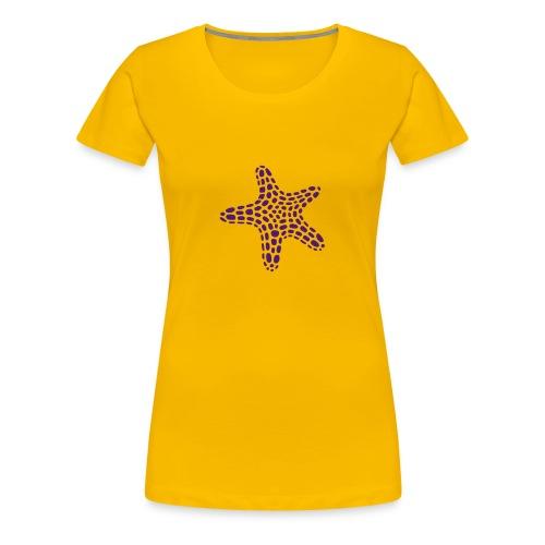 Damen-Shirt mit Seestern vorne und Reef Check Schriftzug hinten. - Frauen Premium T-Shirt