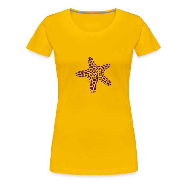 Damen-Shirt mit Seestern vorne und Reef Check Schriftzug hinten.