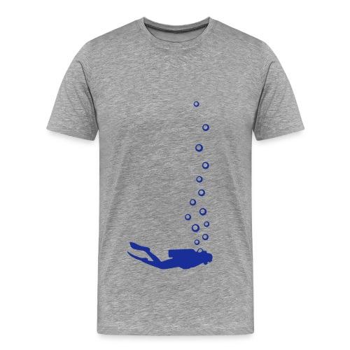 Herren-Shirt mit Taucher vorne und Reef Check Schriftzug hinten. - Männer Premium T-Shirt