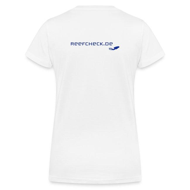 Frauen Bio-T-Shirt mit V-Ausschnitt von Stanley & Stella mit Taucher vorne
