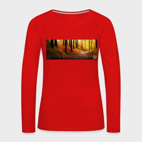 Herbstwald | Damen Premium Langarmshirt (Rot) - Frauen Premium Langarmshirt