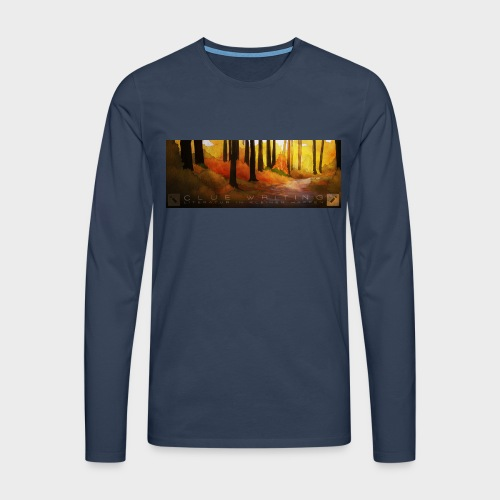 Herbstwald | Herren Premium Langarmshirt (Navy) - Männer Premium Langarmshirt
